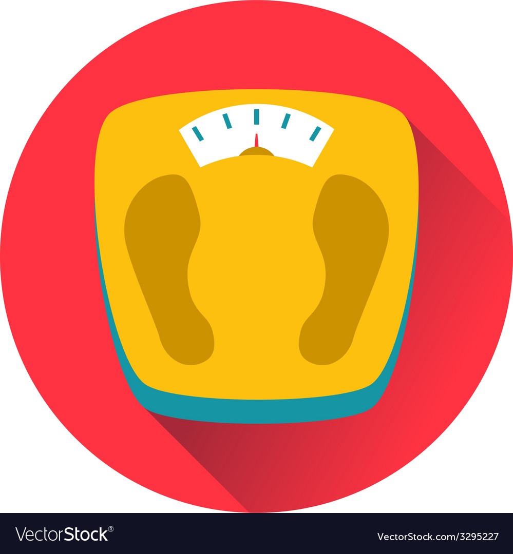 Weight scales icon vector