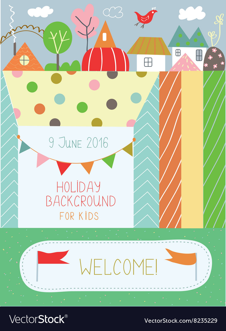 Holidays background for kids for birthday or vector