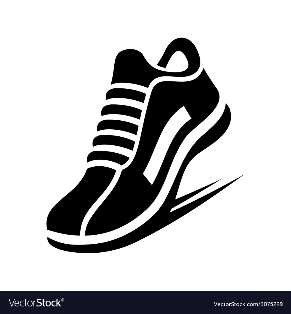 Running shoe icon vector