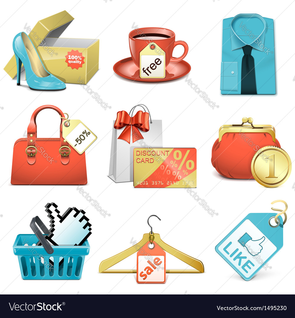 Bargain icons vector