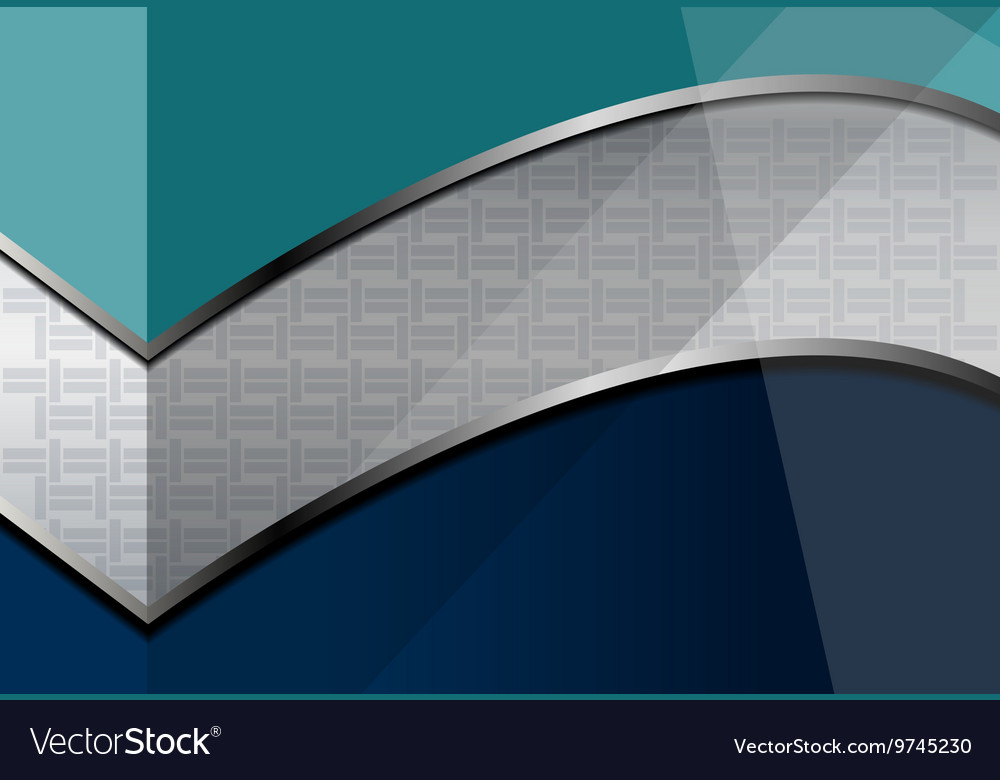 Blue silver curve background vector