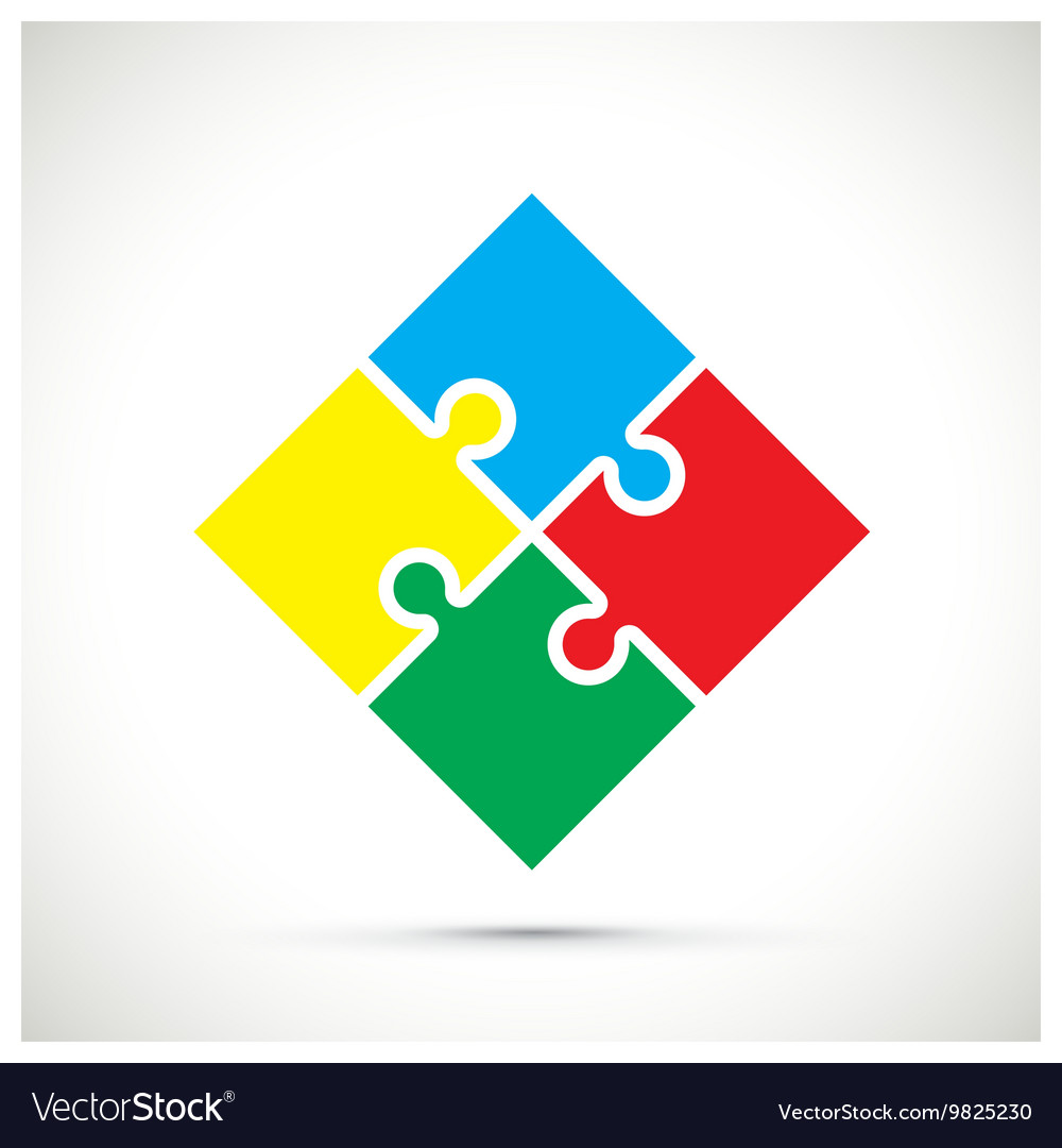Jigsaw colourful vector