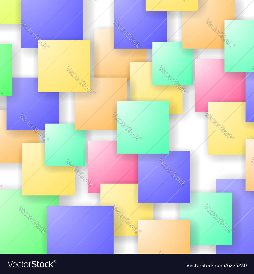 Square blank background vector