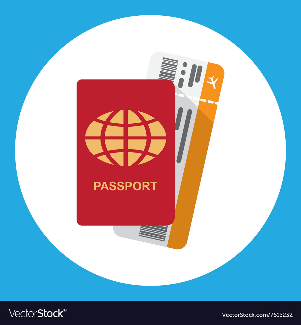 Passport and boarding pass vector