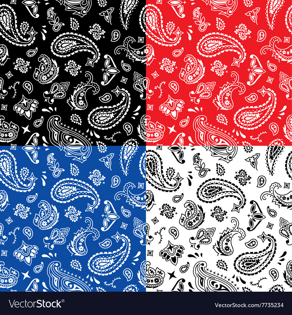 Bandana seamless pattern vector