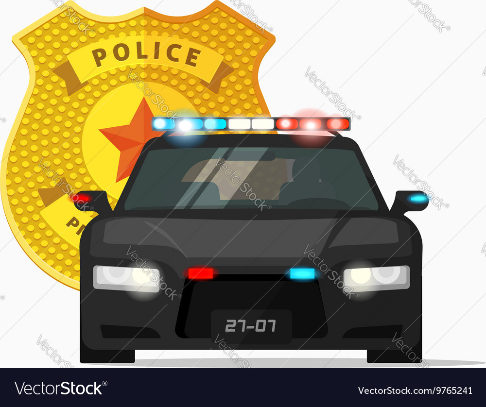 Police car cop auto urban vector