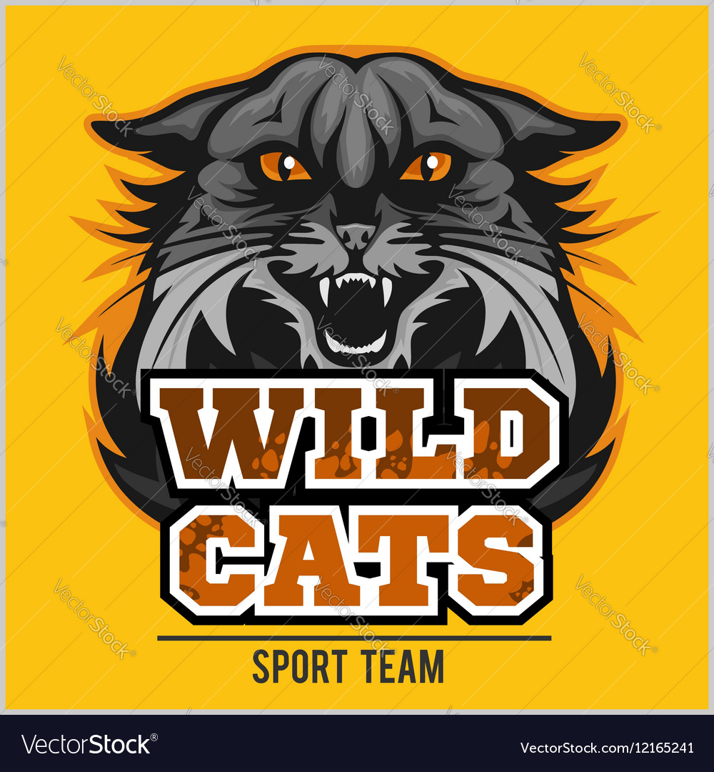 Wild cats sport team  logotype emblem vector