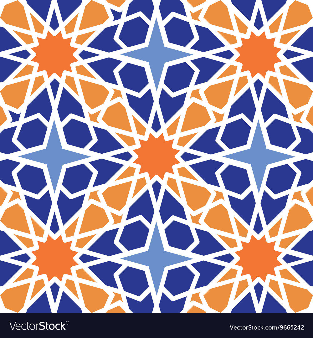 Arabic islamic seamless patterncolored vector