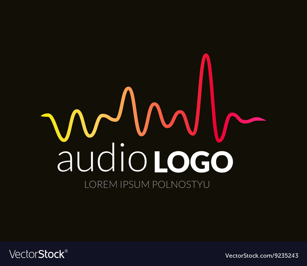 Music logo concept sound wave studio music dj vector
