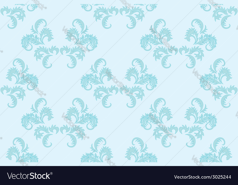 Light blue floral seamless background vector