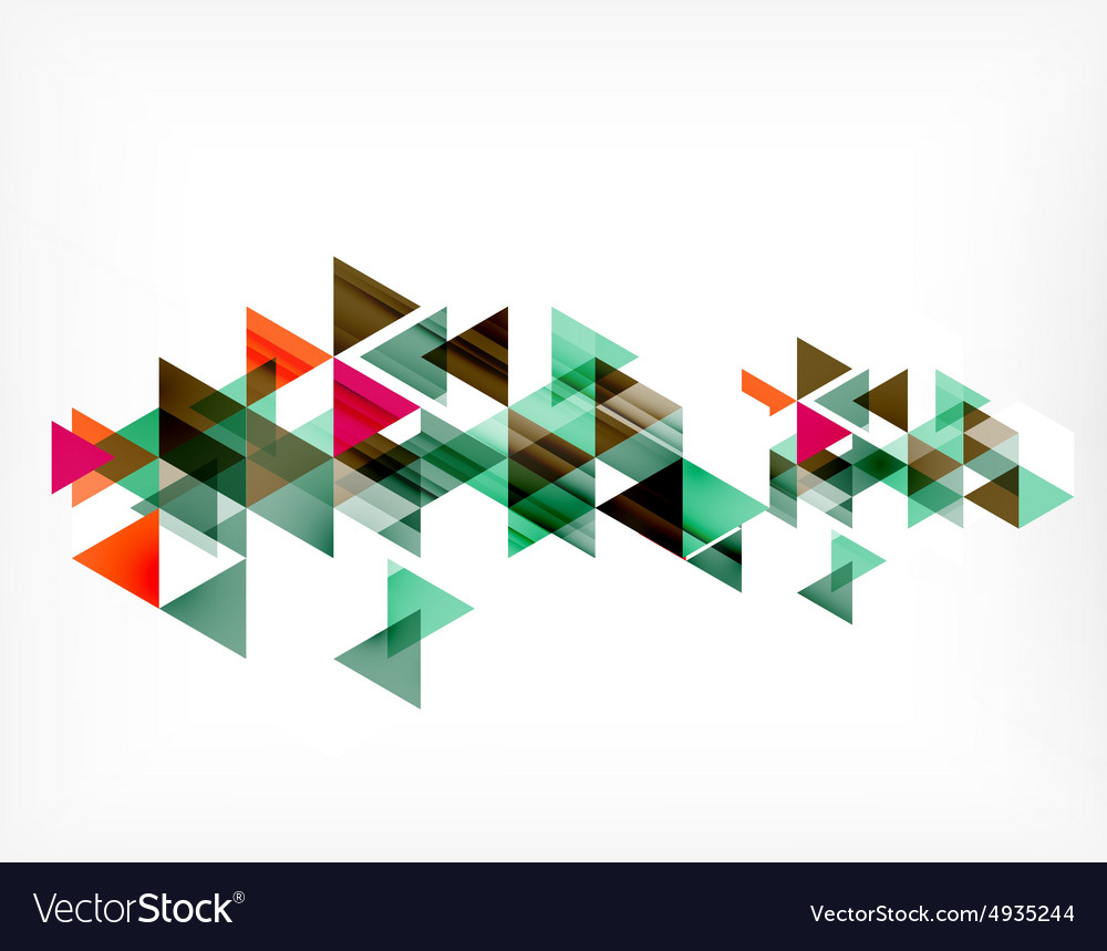 Triangle pattern composition abstract background vector