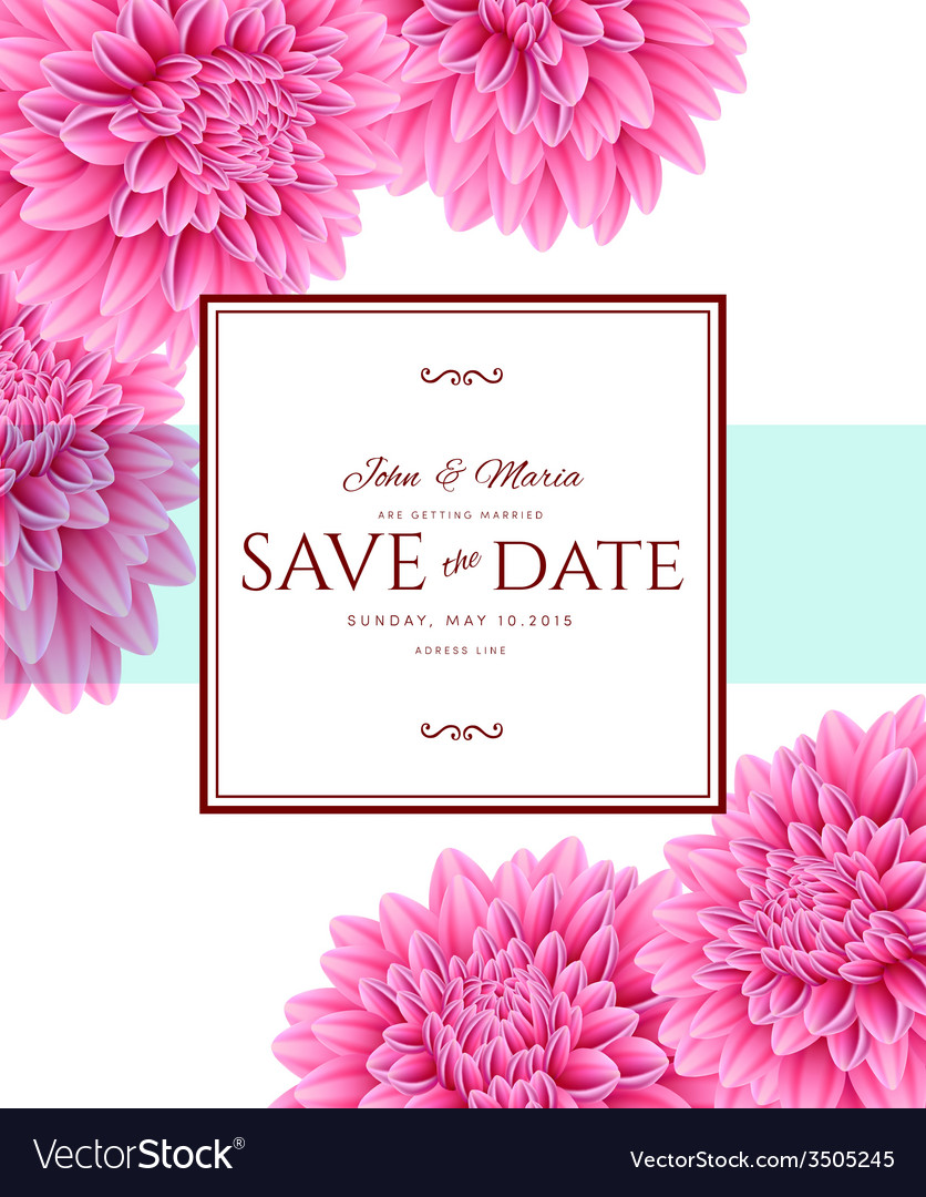 Template card save the date vector