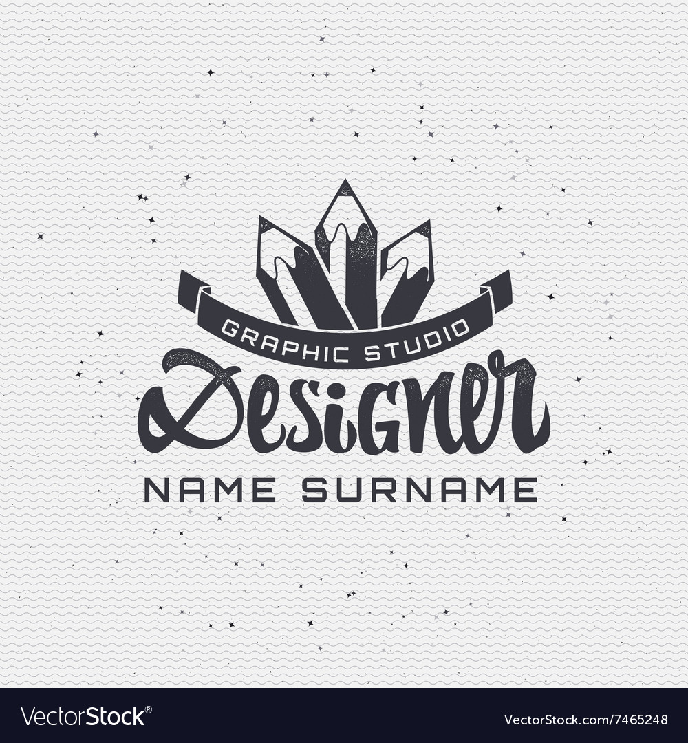 Designer  insignia sticker can be used as a vector