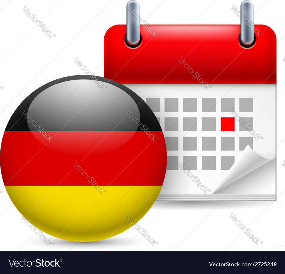 Icon of national day in germany vector