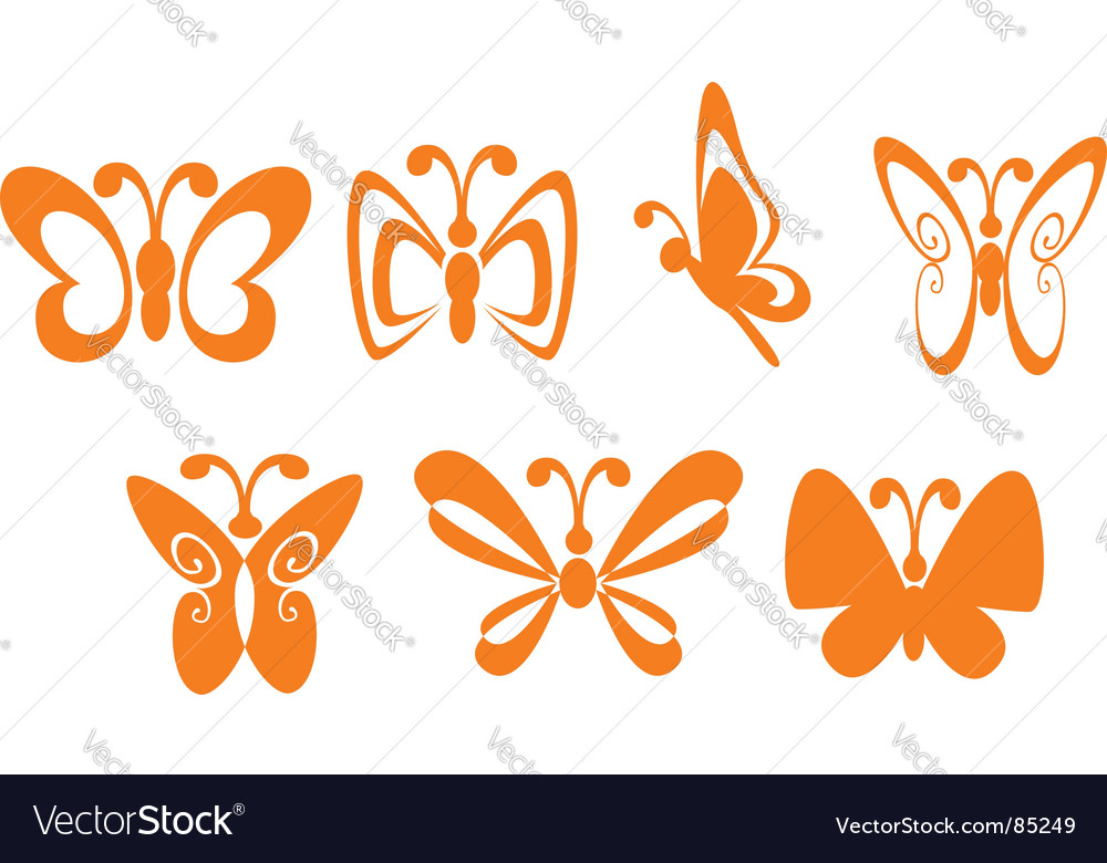 Butterfly symbols vector