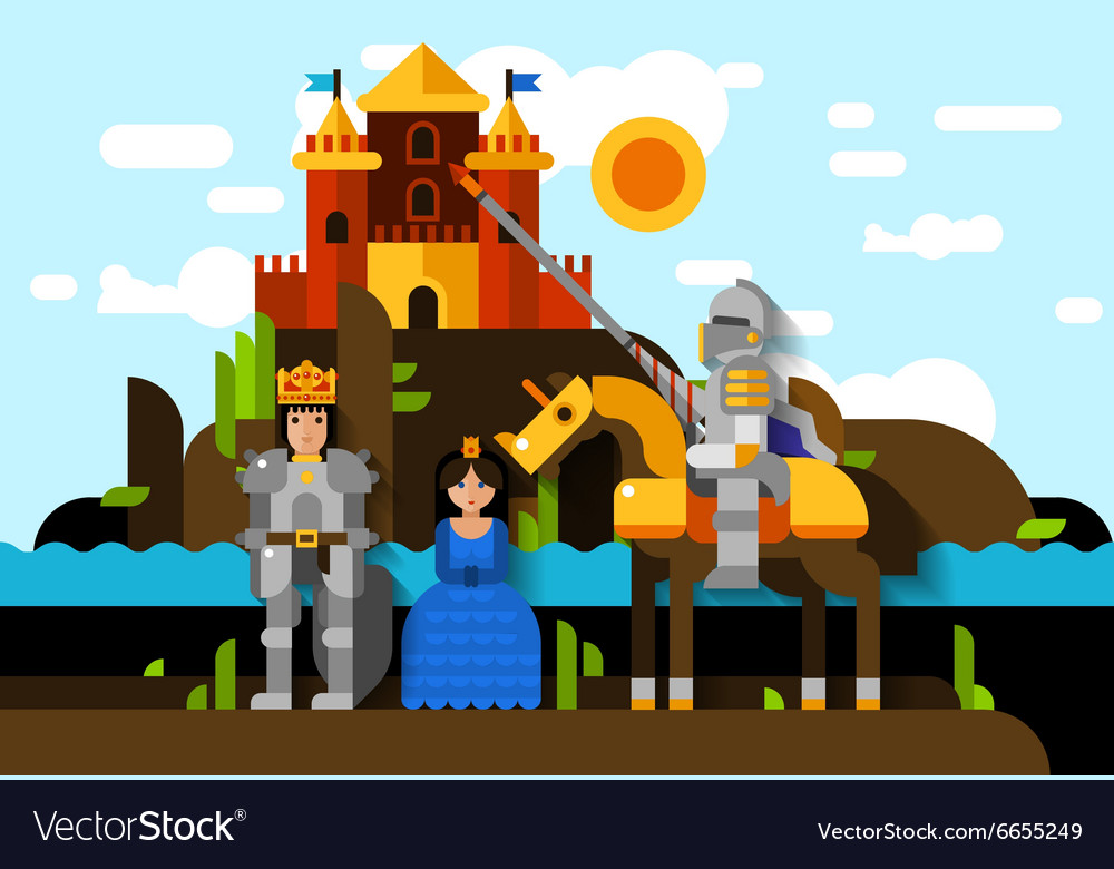 Colorful knight poster vector