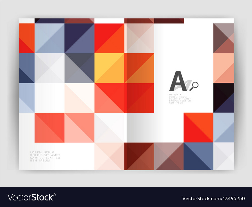 Modern minimalistic geometrical square business vector