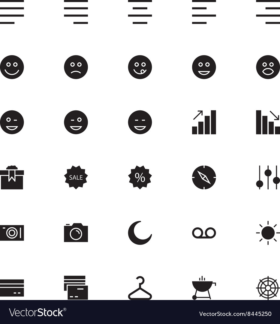 Universal mobile line icons 3 vector