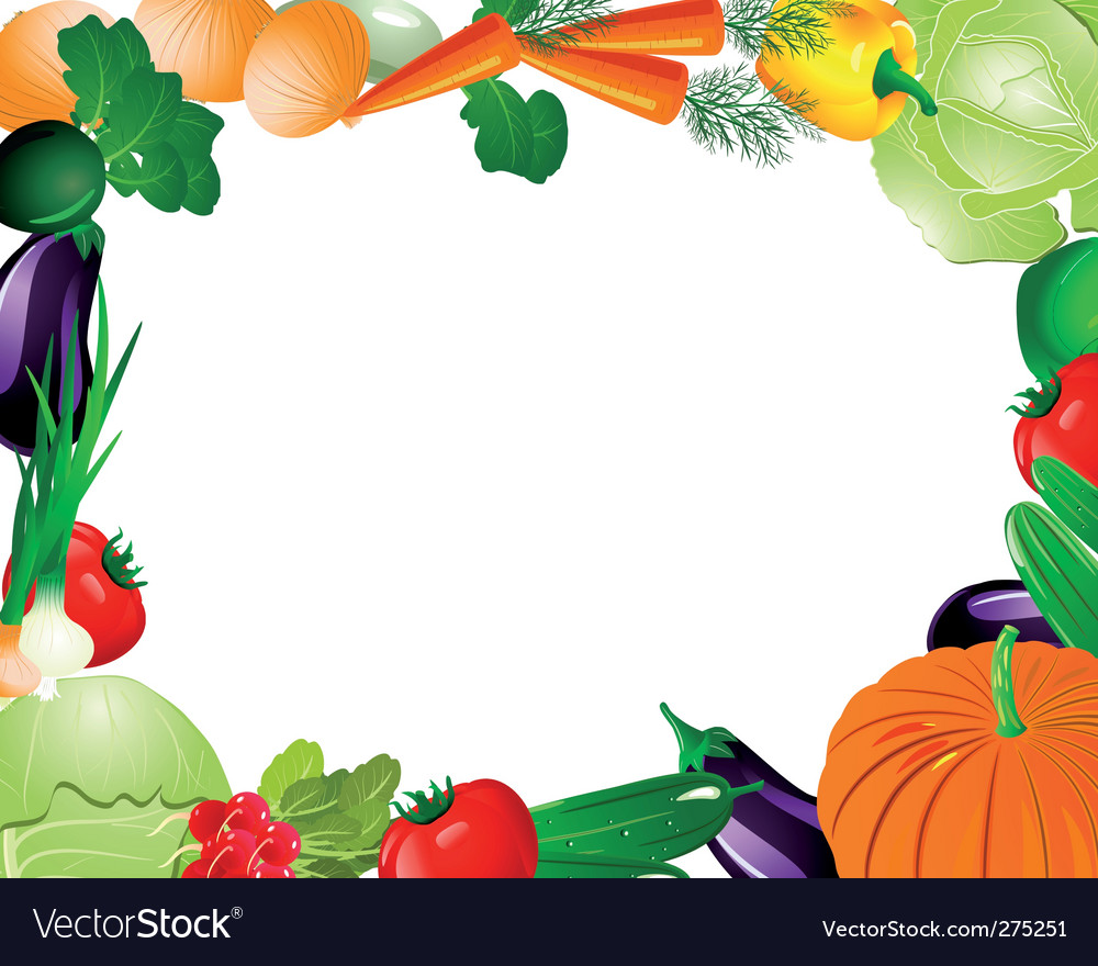 Vegetable frame vector