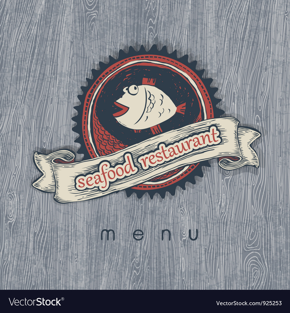 Fish restaurant vector