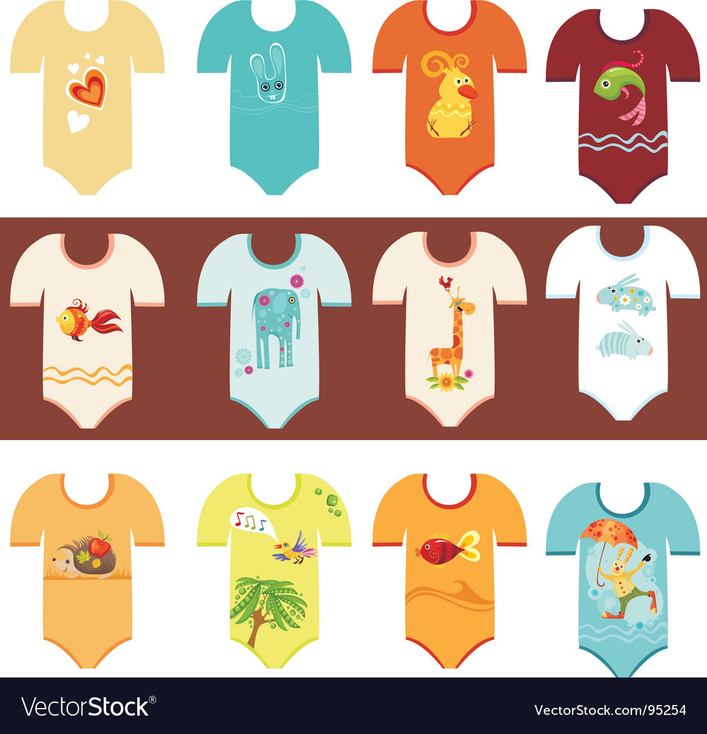 Baby clothing set vector