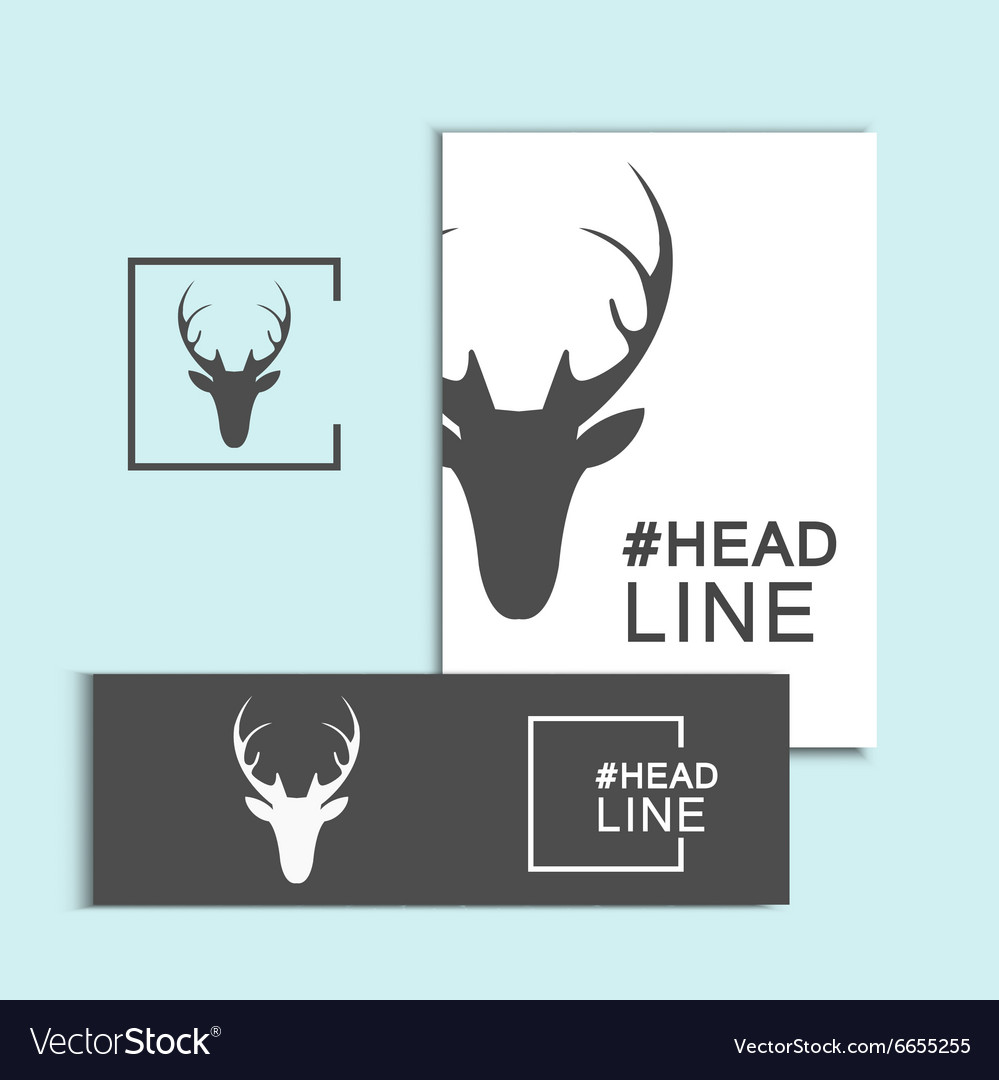 Christmas deer head vector