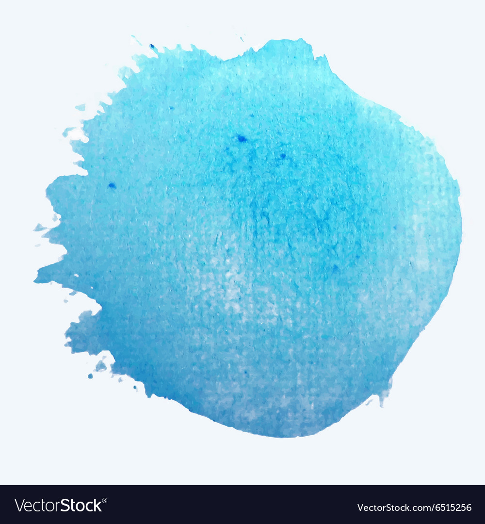 Blue circle stylish watercolor background vector