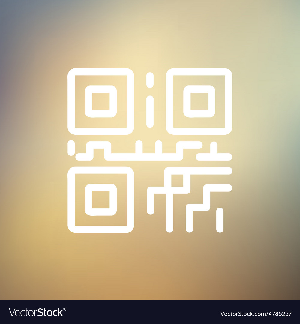 Qr code thin line icon vector