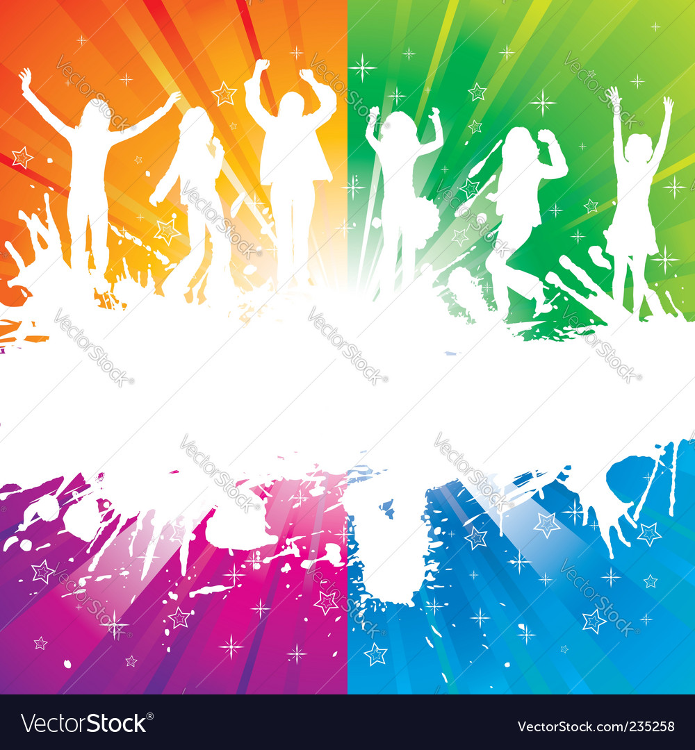 Grunge party silhouette vector