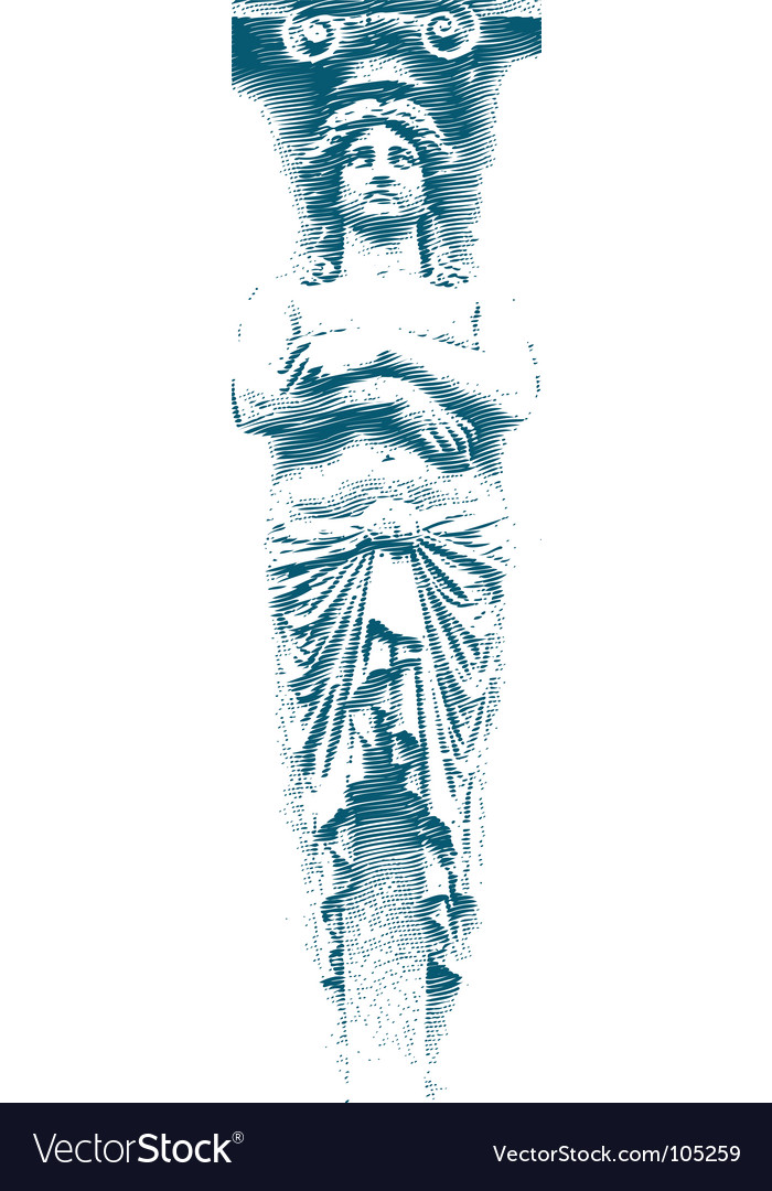 Female statue vector