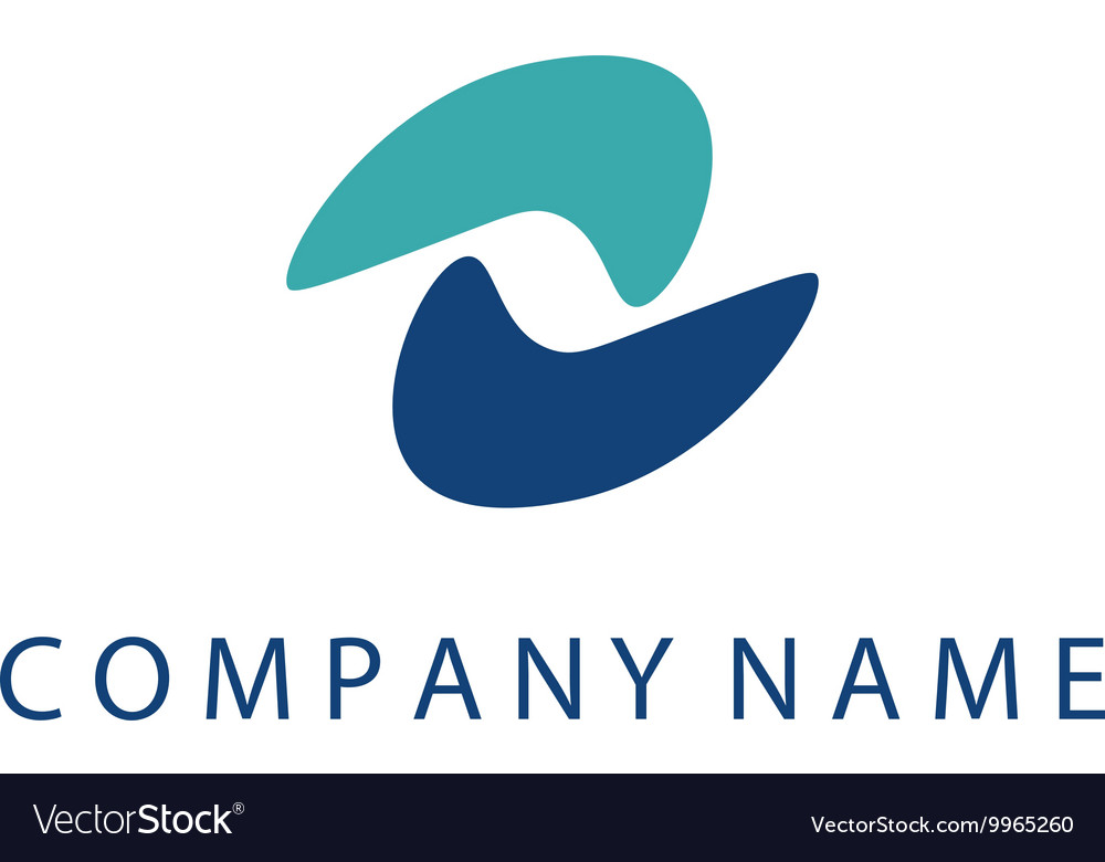 Concept logo template with abstract wave symbol in vector