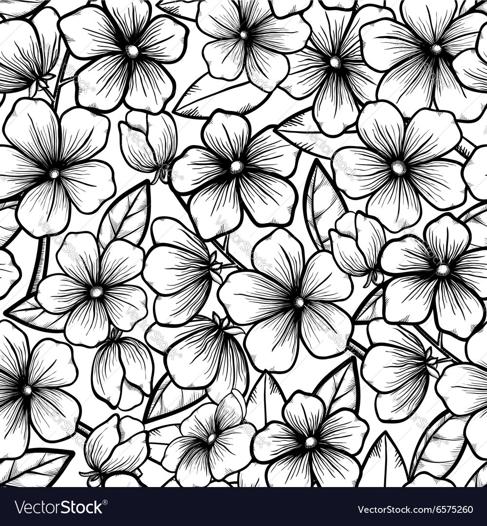 Seamless background blossoming branches of trees vector