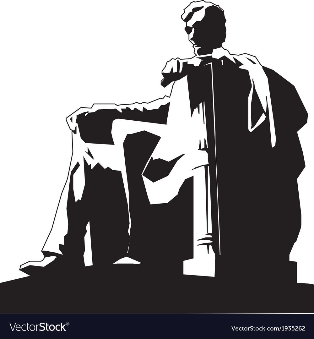 Statue of abraham lincoln vector