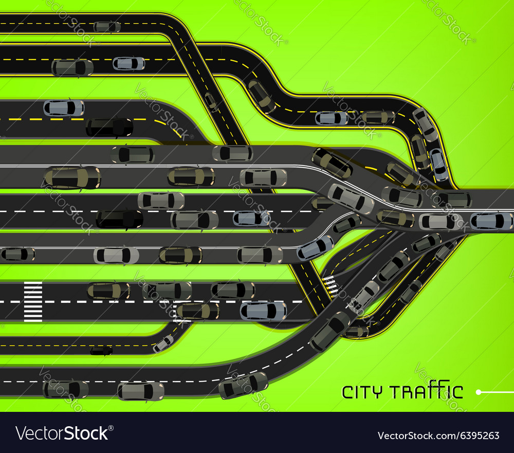 City traffic roads vector