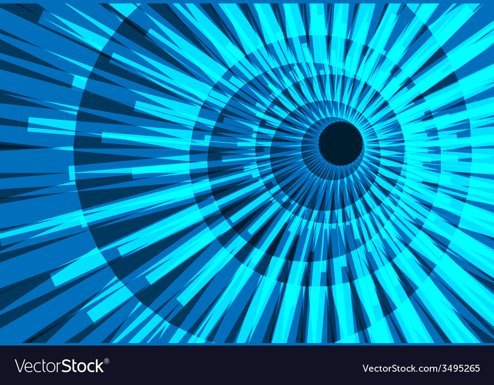 Abstract tunnel telecoms electronic vector