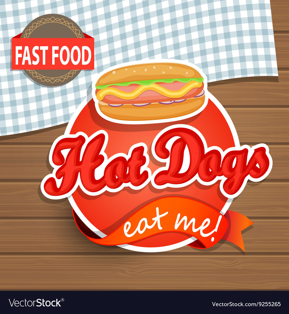 Hot dog concept vector
