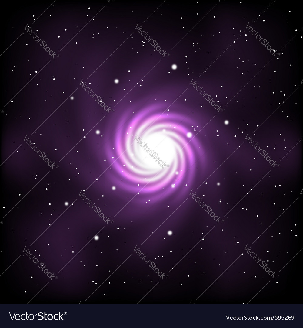 Space with stars and galaxy vector