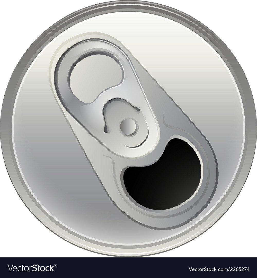 A topview of a beverage can vector