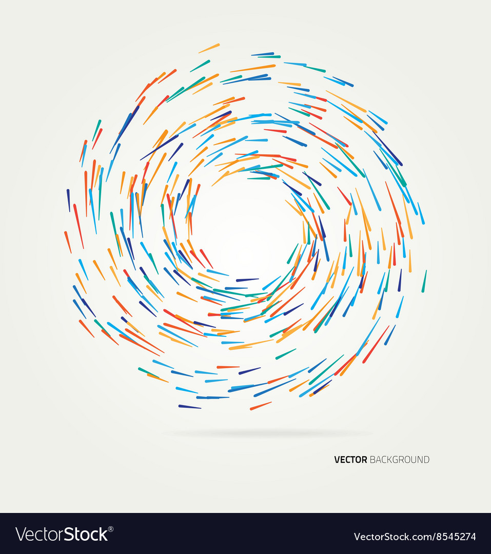 Multicolored lines in a circle vector