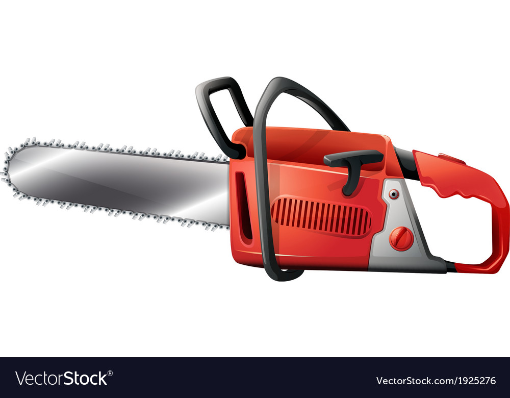 A chainsaw vector