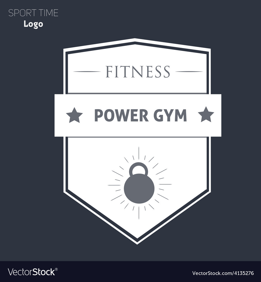 Power fitness gym logo vector