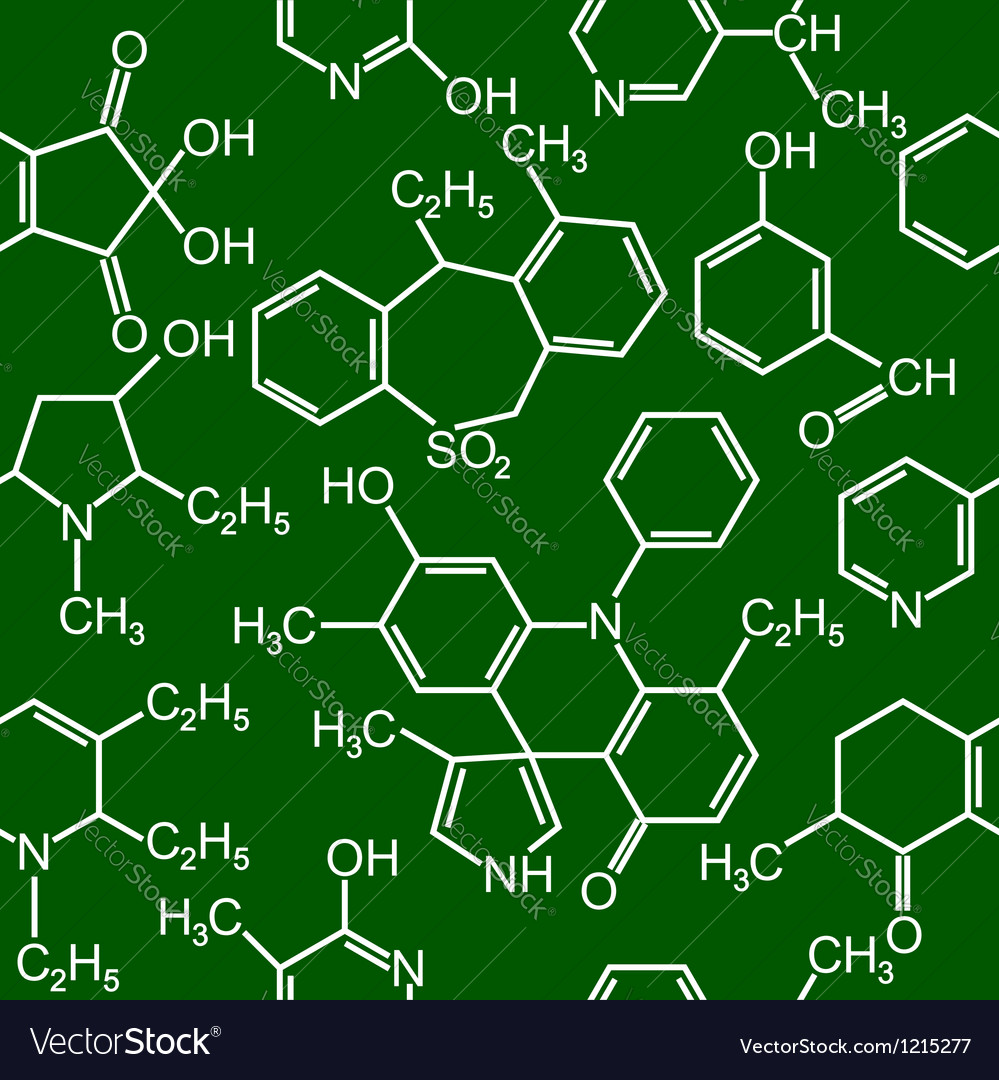 Chemistry science seamless background vector