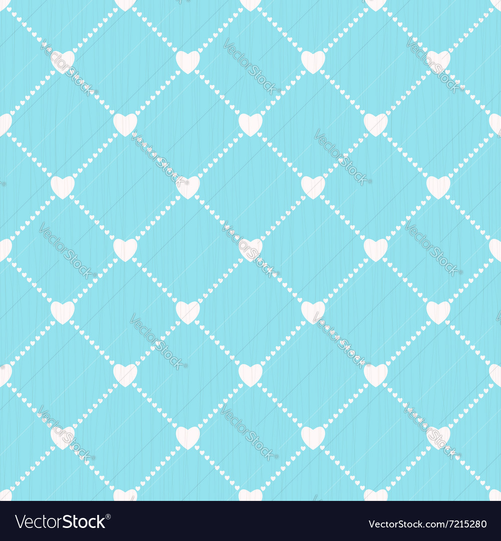 Seamless love background with hearts vector
