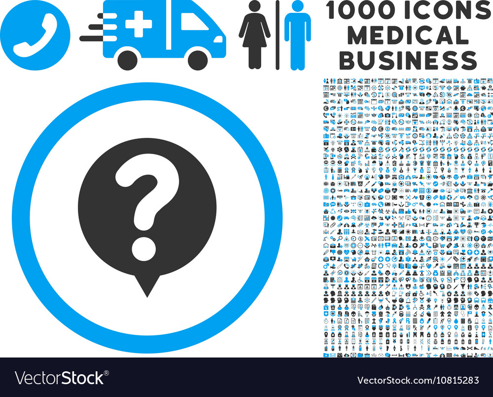 Status icon with 1000 medical business pictograms vector