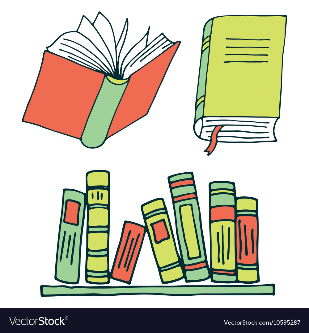 Books color vector