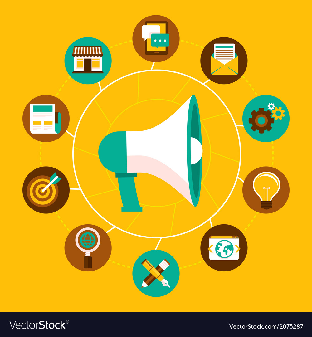 Marketing icons infographic vector