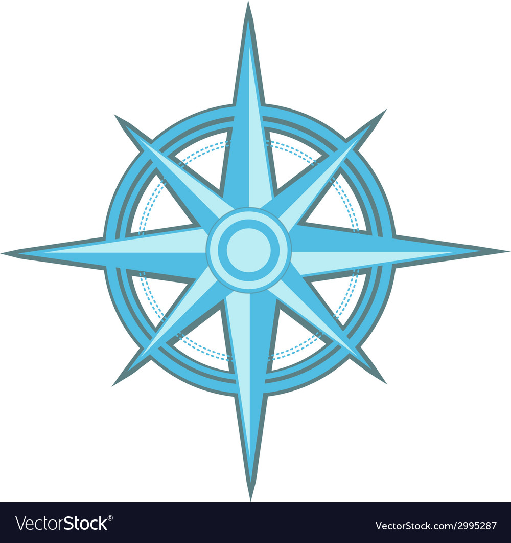 Wind rose  compass star vector