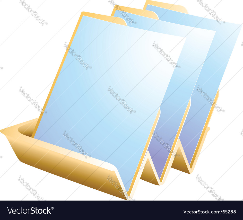 Paper tray vector