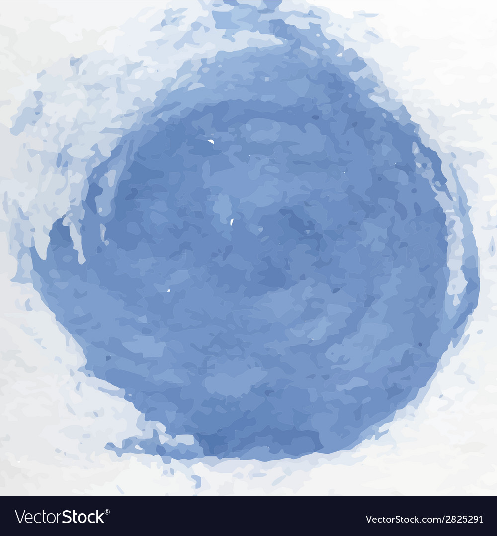 Dirty blue watercolor vector