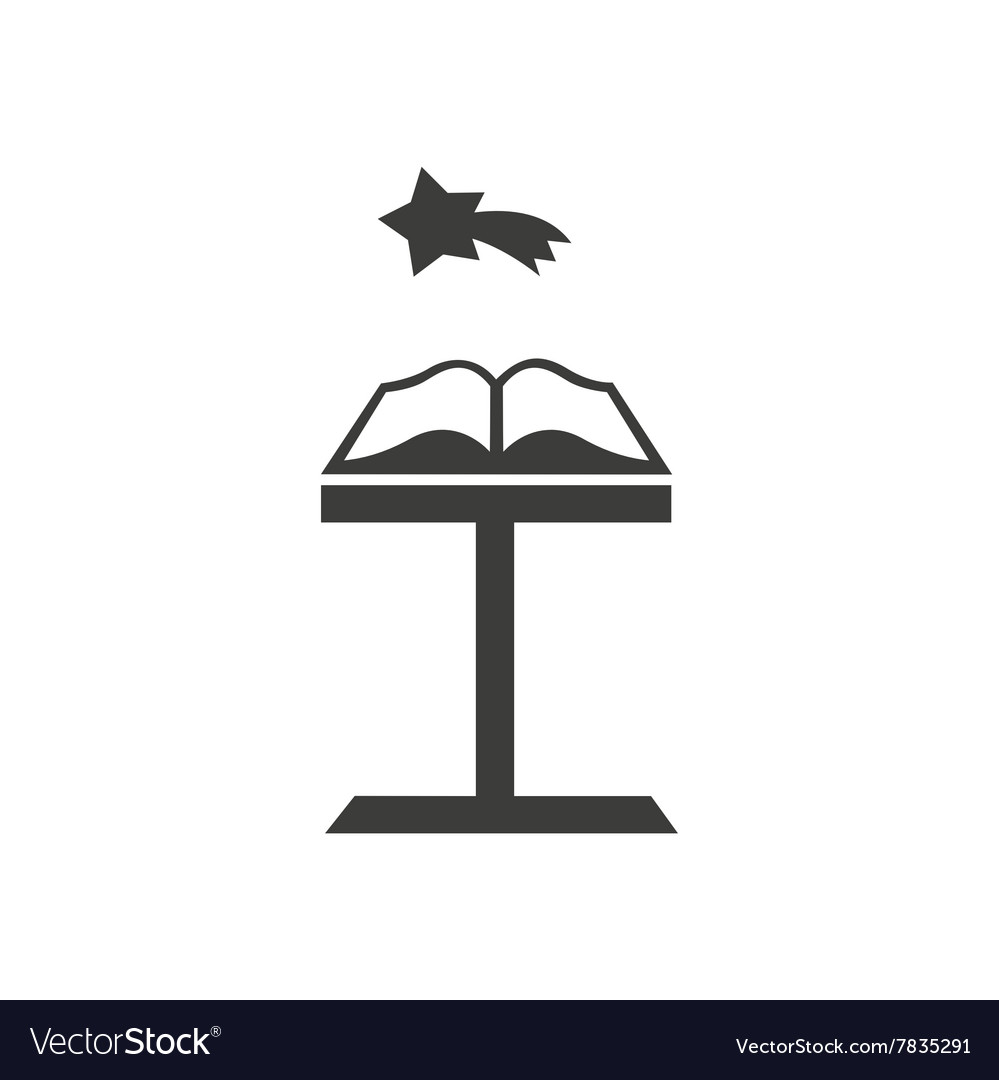 Flat icon in black and white style holy book vector